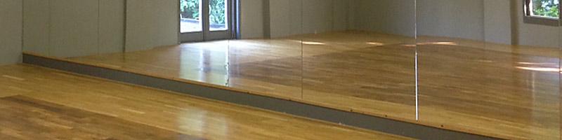 Spiegelglas voor dansschool