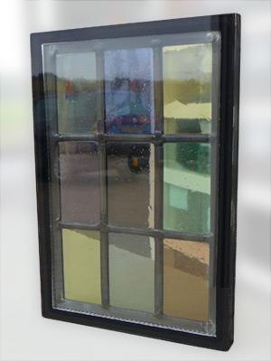 glas in lood tussen twee isolerende ramen