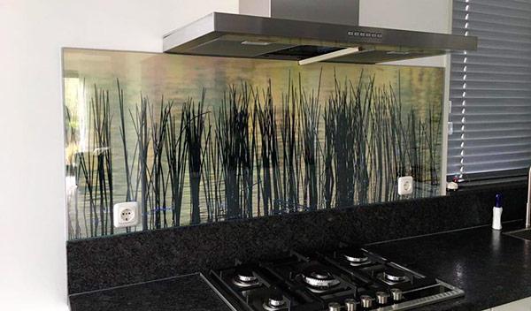keuken achterwand met print